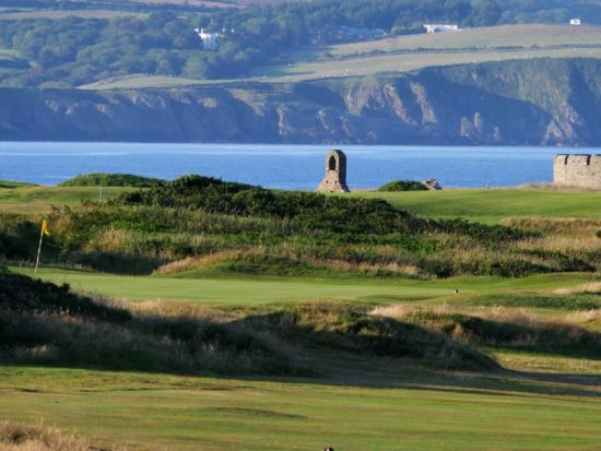 Castletown links golf course on the Isle of Man