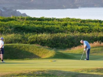 17th hole at Castletown golf links