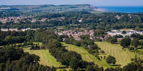 Aerial view of Ramsey golf course