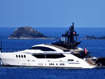 Yacht off the coast of the Isle of Man